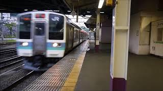 中央線を走る列車 part1 211系長野色 3両+3両 甲府駅到着