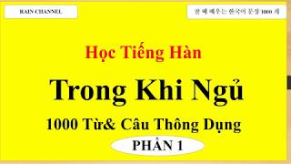 P1 -Học Tiếng Hàn khi ngủ - 1000 từ vựng tiếng Hàn và Câu  online- tiếng Hàn sơ cấp- Cơ bản-nhập môn