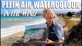 Plein-air Watercolor Painting in the Wind – Demonstration for Beginners and Intermediate Levels