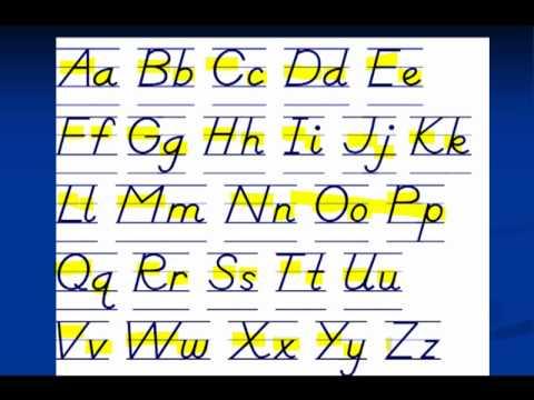 1 English Alphabet الأحرف الانجليزية Youtube