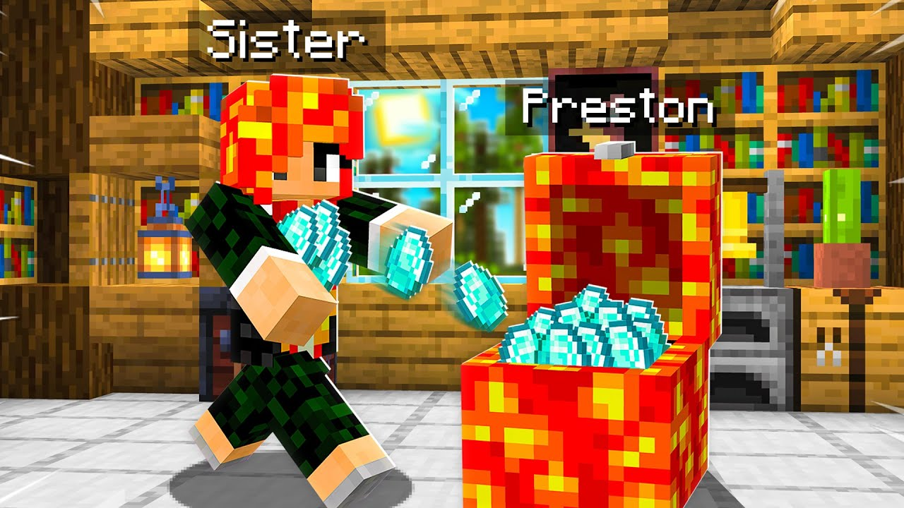 7 Ways to STEAL my Little Sister's Diamonds! (Minecraft) thumbnail