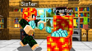 Download 7 Ways to STEAL my Little Sister's Diamonds! (Minecraft) Mp3 and Videos