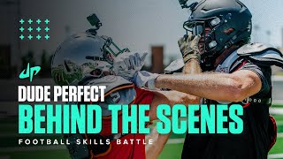 Football Skills Battle (Behind The Scenes) | Dude Perfect Plus