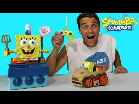 Spongebob Squarepants Remote Control Krabby Patty ! || Toy Review || Konas2002