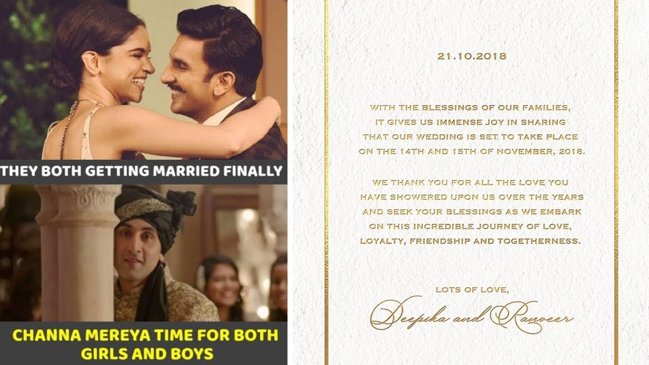 Trolls On Deepika Padukone And Ranveer Singh Wedding Card Latest