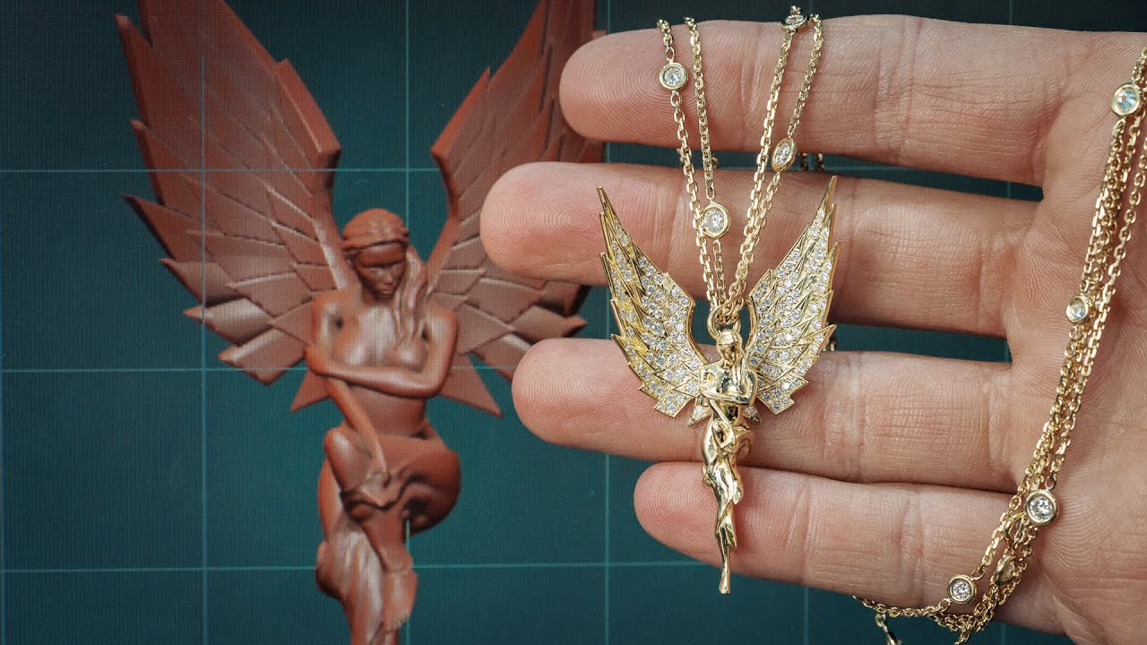 How I Made A Diamond Angel Pendant From A 3D Model