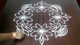 Big Beautiful New Chukkala Muggulu Design 15 x 1  || Easy Deepam Muggulu  || Fashion World