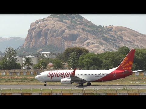Beautiful flight landing in Madurai Airport