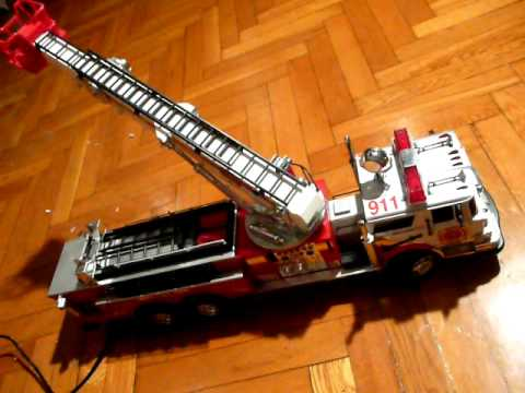 New Bright Fire Truck With A Wired Remote Control Youtube