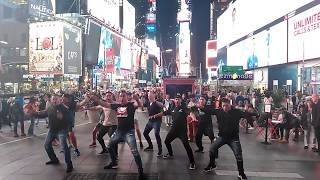 Haka in Times Square New York City Flash Mob