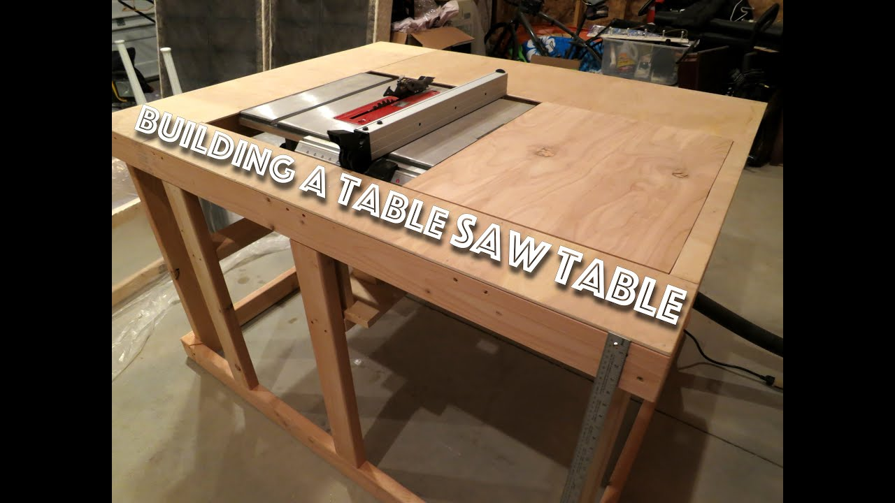 Making A Cheap Table Saw Table Part 1 Youtube