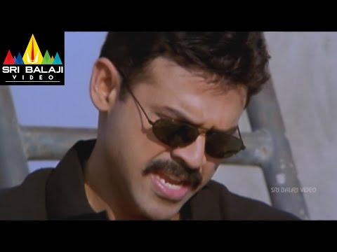 Gharshana Movie Encounter Scene   Venkatesh, Asin   Sri Balaji Video