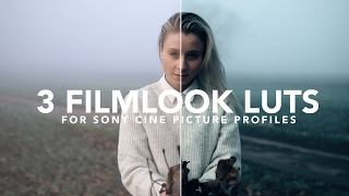 3 Cinematic LUTs for your a6300/a6500/A7S