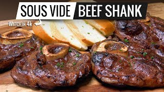 Sous Vide BEEF SHANK Perfection! How to cook BEEF Shank