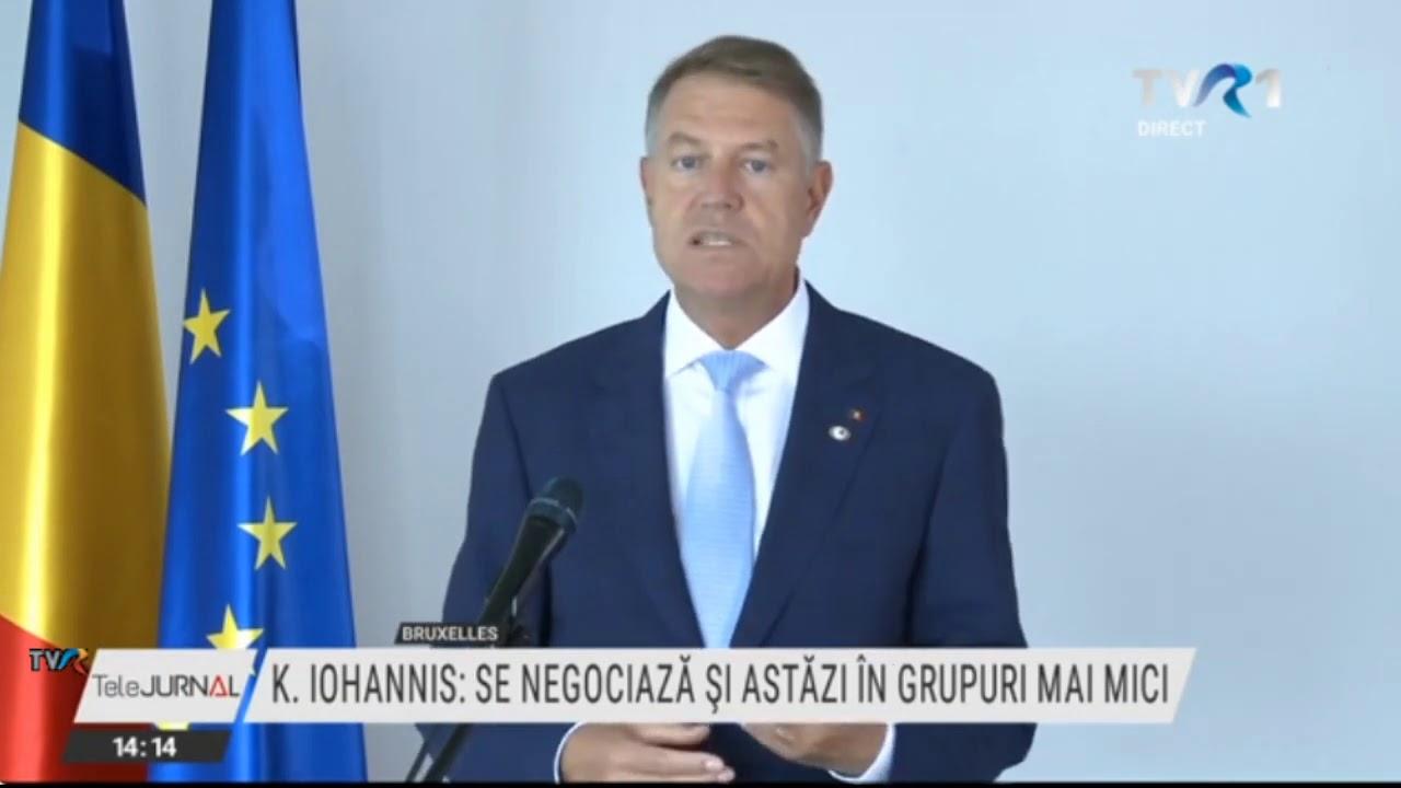 Klaus Iohannis, declaraţii de la Bruxelles, privind negocierile pentru fondul de redresare