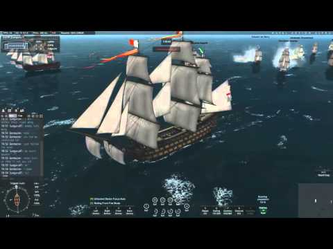 Naval Action Game - Ep 13. Fleet Order Mission : Santissima and Victory vs 18 Ships