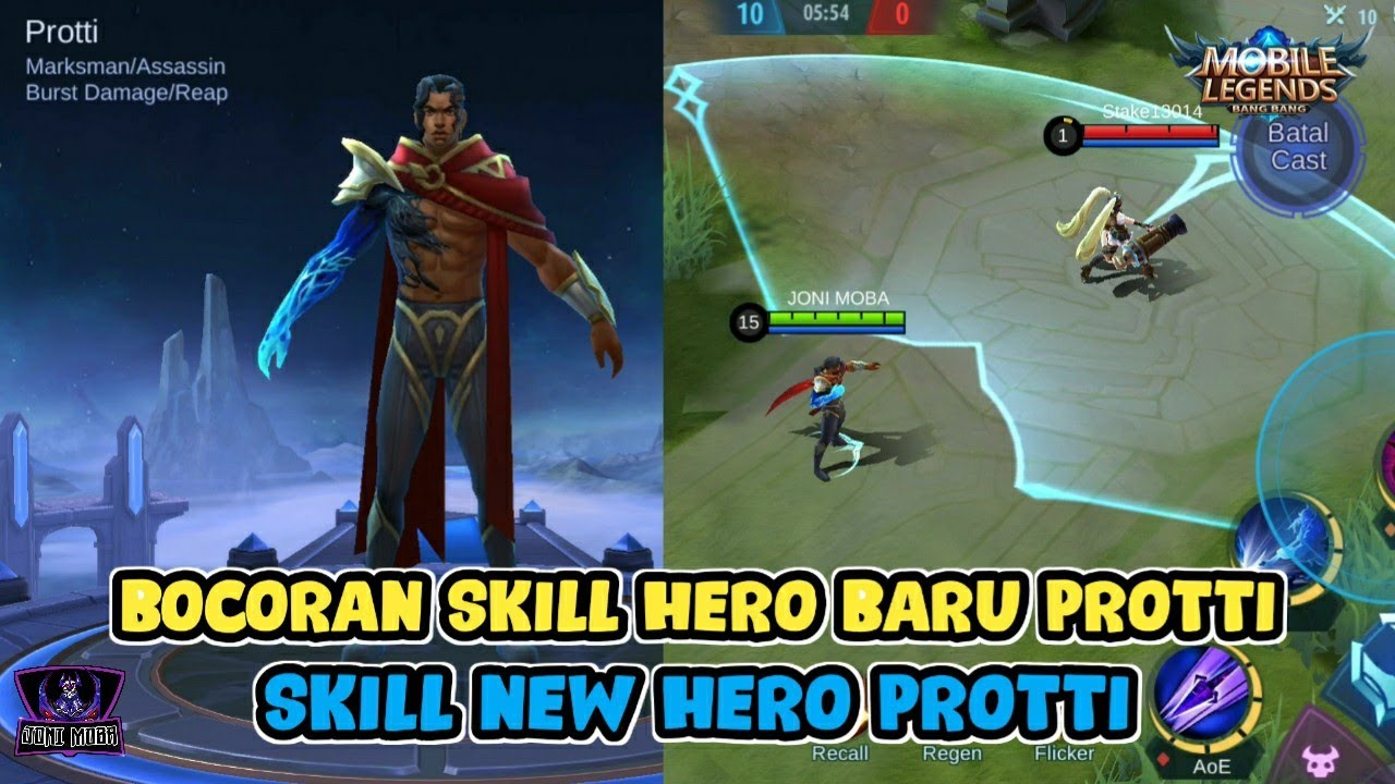 NEW HERO PROTTI MARKSMAN/ASSASSIN - BOCORAN SKILL/LEAKED SKILL GAMEPLAY MOBILE LEGENDS