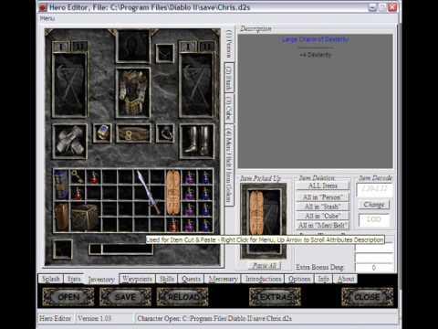 Diablo 2 II Hero Character Editor V 112