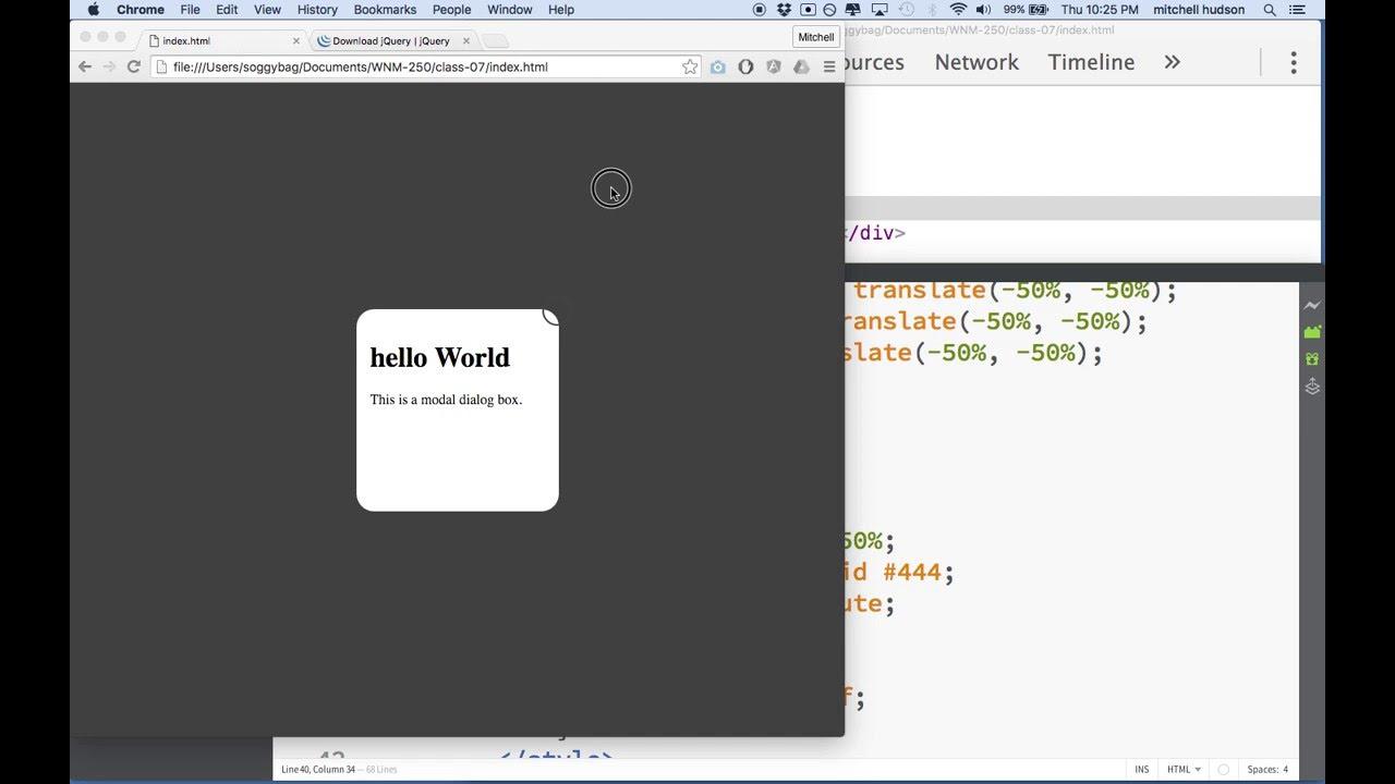 04 Modal Dialog CSS