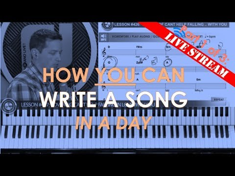 How to Write A Song in 5 minutes or less (Song Writing part 1 of 3)