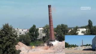 Wysadzanie komina Polmosu