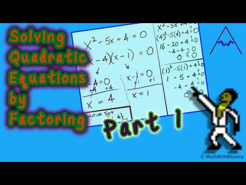 solving quadratic equations by factoring part 1 of 4 - Solving Quadratic Equations By Factoring Worksheet