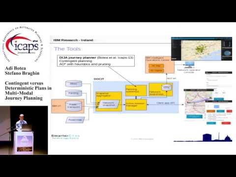 """ICAPS 2015: """"Contingent versus Deterministic Plans in Multi-Modal Journey Planning"""""""