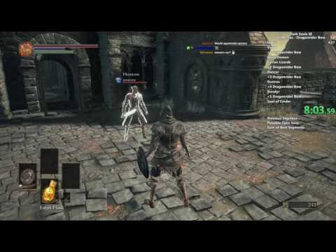 Dark Souls III Dragonrider Bow All Bosses speedrun