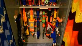 My Nerf Gun Collection Cabinet