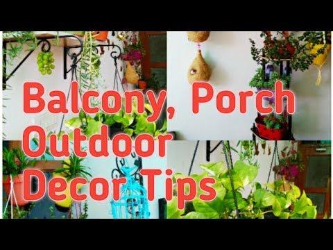 Balcony / Porch / Garden / Outdoor Decor Ideas | How to Decorate Balcony