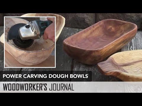 Power Carving Dough Bowl Project