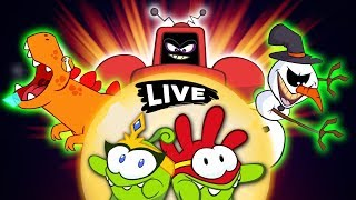 Om Nom Stories - Journey OF The Super Noms  |Cut The Rope | Funny Cartoons For Kids|  Live 🔴
