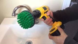 Scrub Brush for Sink and Bathroom  - Tile Scrubbing Rotary Scrub Bit