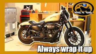 Vance & Hines Short Shots Pipe Wrap Step By Step - Harley Iron 883