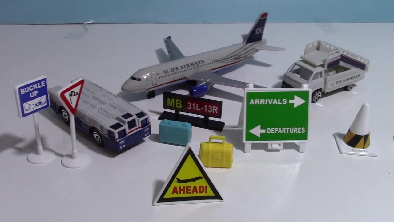 Modèle d'avion Airport Play Set US airways,Ensemble de jeu d'aéroport【Modèle d'avion】 02770+fr ...