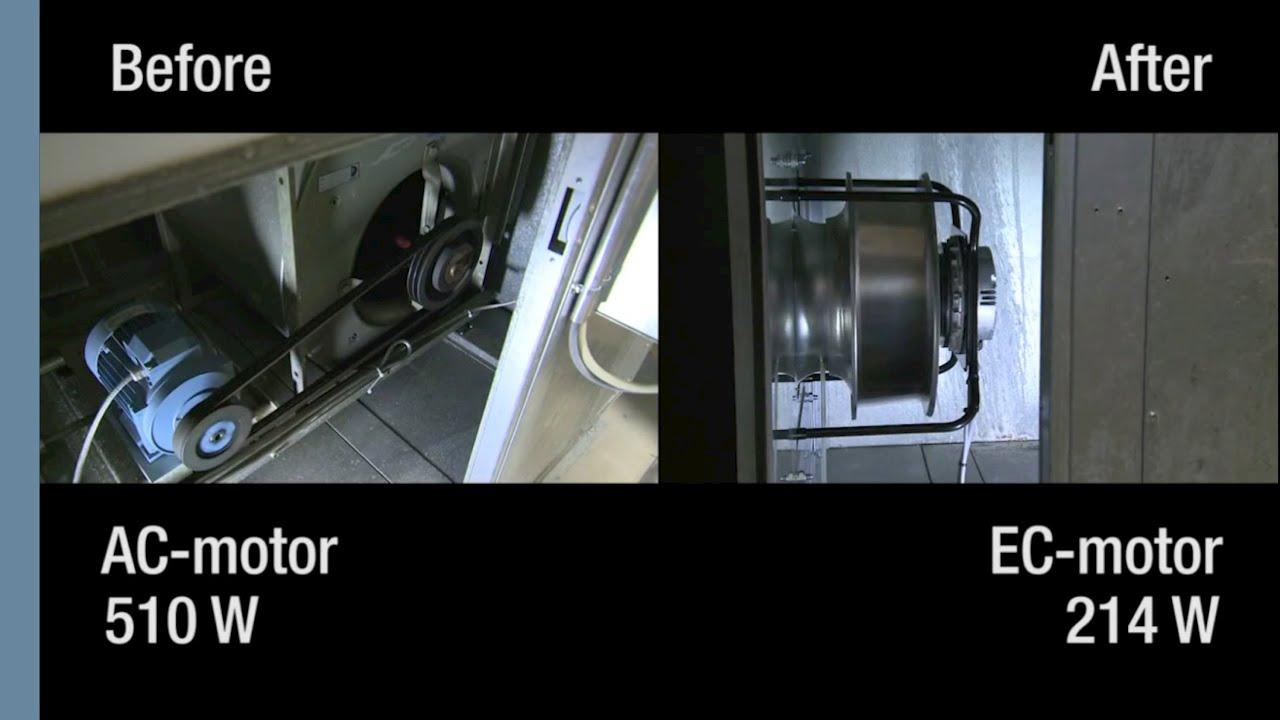 EC fan upgrade for airhandling unit  ebmpapst  YouTube