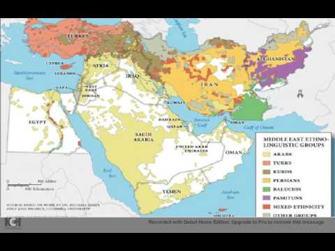 Ethnic map of Middle East  YouTube