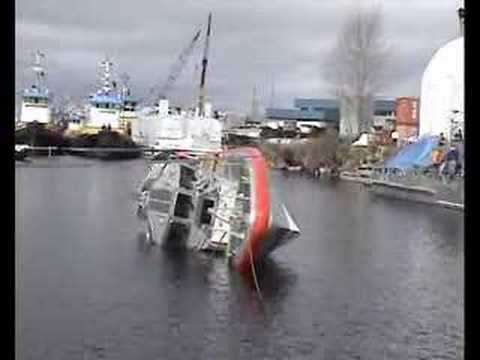 Coast Guard Response Boat Self-Righting Test