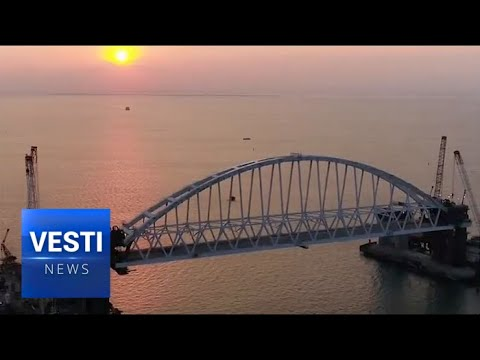 The Sea Gates Are Open: The Snow-White Arch of The Crimean Bridge Was Set on The Pillars