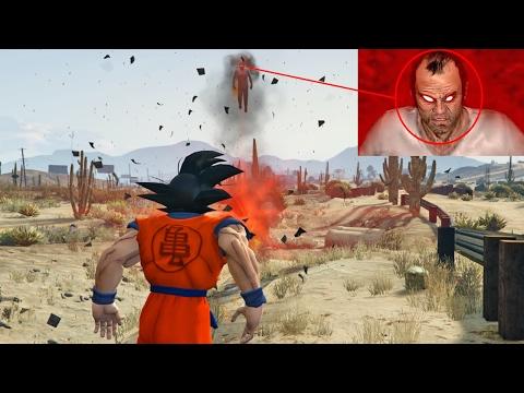 Goku vs Trevor: MAPA DE DRAGON BALL!! (GTA 5 Mods)
