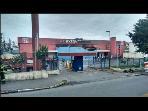 INCÊNDIO no EXTRA PIRAJUSSARA - Taboão da Serra