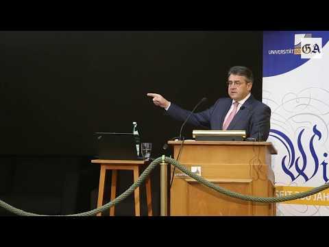 Sigmar Gabriel an der Uni Bonn - Die ganze Vorlesung im Video