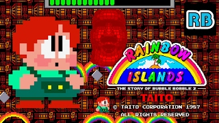 1987 [60fps] Rainbow Islands (old ver.) Hardest ALL