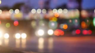 Blurry Video Of Car Lights