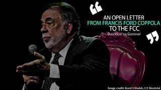 Francis Ford Coppola Defends Net Neutrality, Asks FCC to Protect Artists