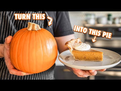 How To Turn A Whole Pumpkin Into The Best Pumpkin pie