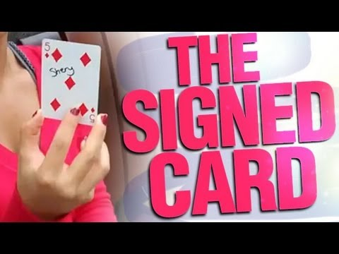 Petey Performs Really Cool Card Trick The Signed Card