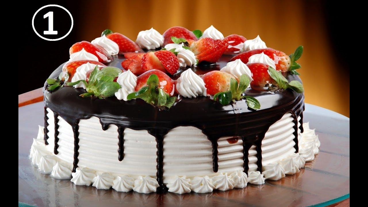 Joyeux anniversaire gateau fraise