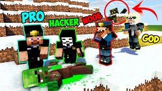 Minecraft NOOB vs PRO vs HACKER vs GOD : ZOMBIE VILLAGER INVESTIGATION in Minecraft
