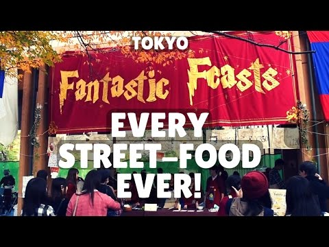 TUFS Tokyo - Every Street-food Ever! Japan Vlog 外語祭 東京